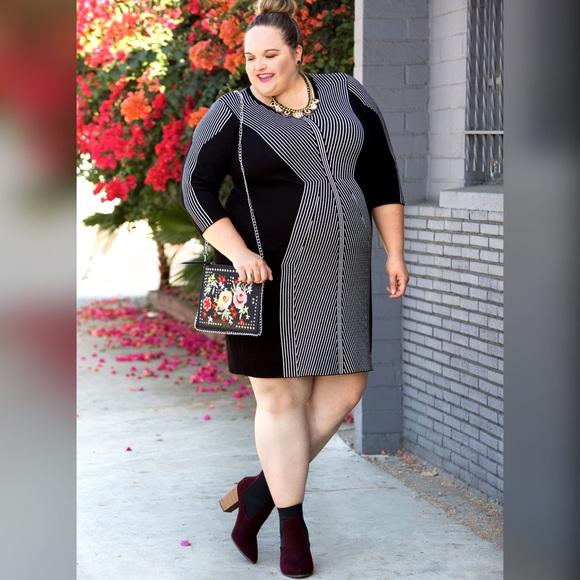 Taylor Woman Dresses - Striped Sweater Dress